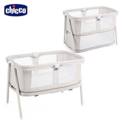 chicco-Lullago Zip可攜式兩段嬰兒床-優雅淺灰