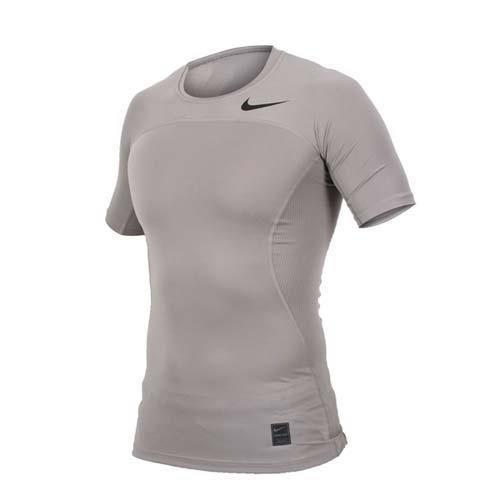 NIKE 男短袖針織衫-慢跑 運動 T恤 短T 淺灰黑