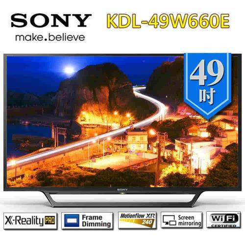 SONY新力 49型 FHD高畫質液晶電視KDL-49W660E