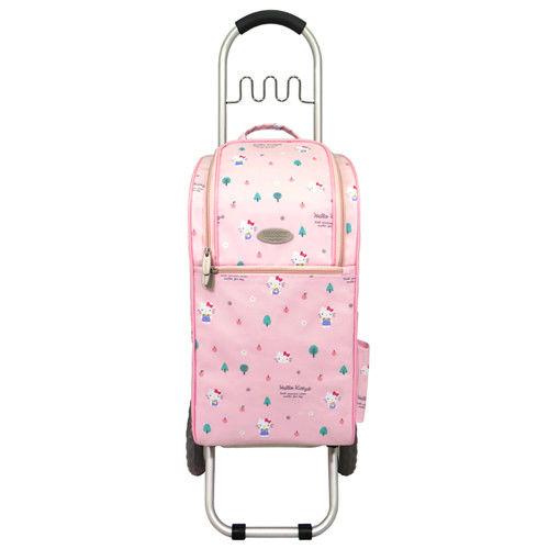 卡蘿輕便時尚購物車-25L波浪掛勾-Hello Kitty限量款