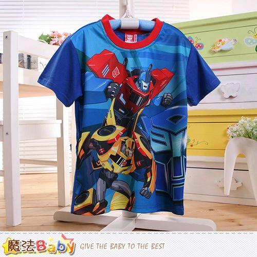 魔法Baby 男童裝 變形金剛授權正版涼感短袖T恤~k50492