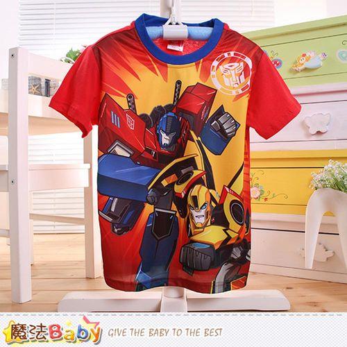 魔法Baby 男童裝 變形金剛授權正版涼感短袖T恤~k50491