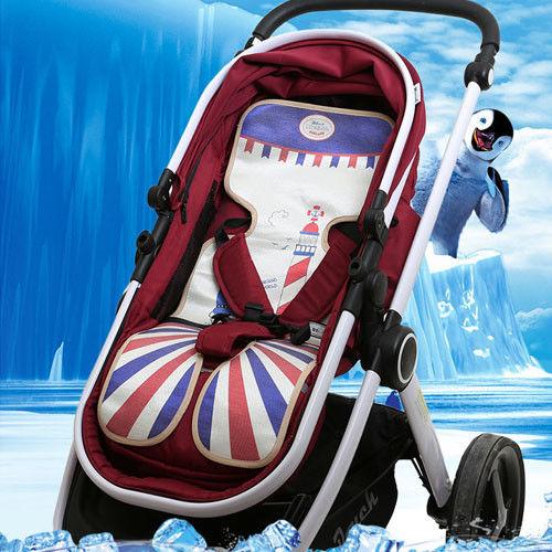 【親親寶貝】頂級精品天然冰絲嬰兒車涼蓆/推車涼蓆/汽座涼席/冰涼墊_夏天給寶寶最好的呵護
