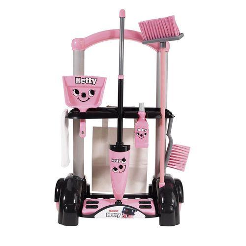 【 英國 CASDON 家事玩具 】Hetty 小海蒂清潔手推車