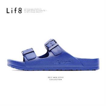 Life8-Casual 馬卡龍系列 品牌漂浮涼拖鞋-09634-深藍