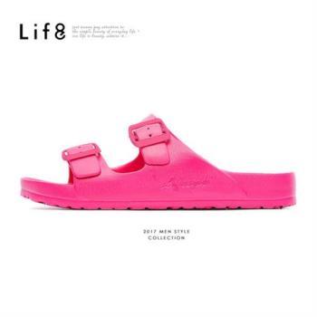 Life8-Casual 馬卡龍系列 品牌漂浮涼拖鞋-09634-桃紅