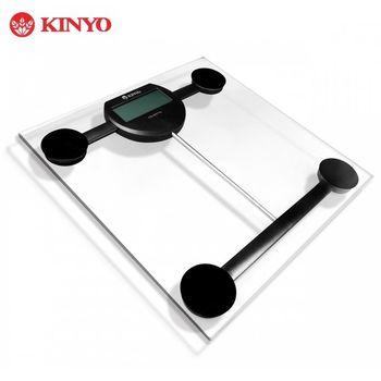 KINYO 智慧操控晶透電子體重計DS-6576