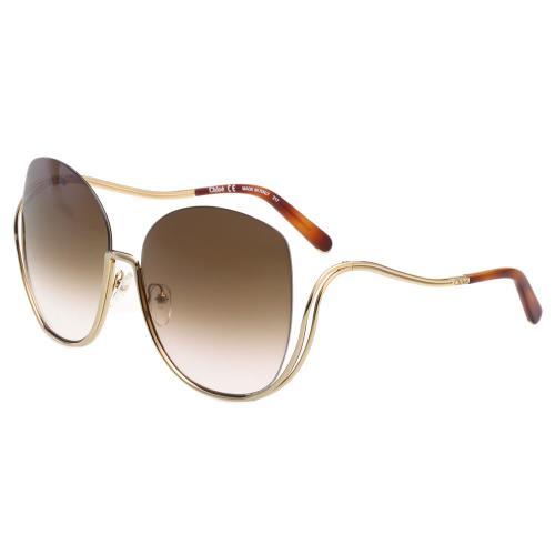 CHLOE金屬大框 太陽眼鏡-金框 CE125S-757