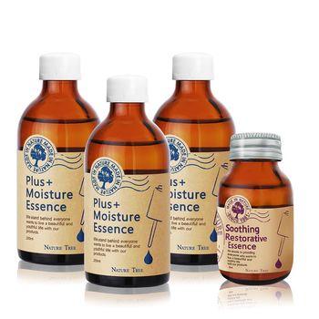 Nature Tree 敏感推薦精華組-保濕精華液250mlX3+舒敏精華液60mlX1