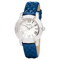 Folli Follie Donatella 璀璨水鑽亮采女錶 銀x藍 34mm WF1A