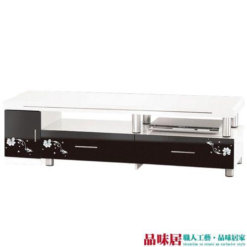 【品味居】維芬 時尚4.8尺雙色電視櫃/視聽櫃(可伸縮便利機能設計)