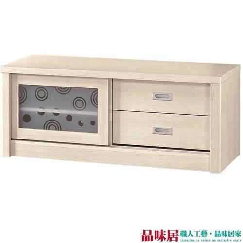 【品味居】李維 時尚4尺木紋電視櫃/視聽櫃(二色可選)