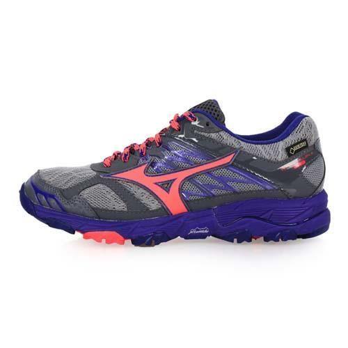 MIZUNO WAVE MUJIN 4 G-TX 女越野慢跑鞋-登山 美津濃 淺灰紫