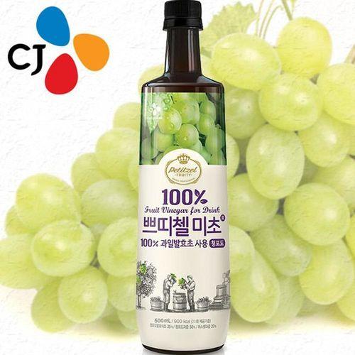 暢銷韓國 CJ青葡萄果醋(500ml*3瓶/禮盒組)