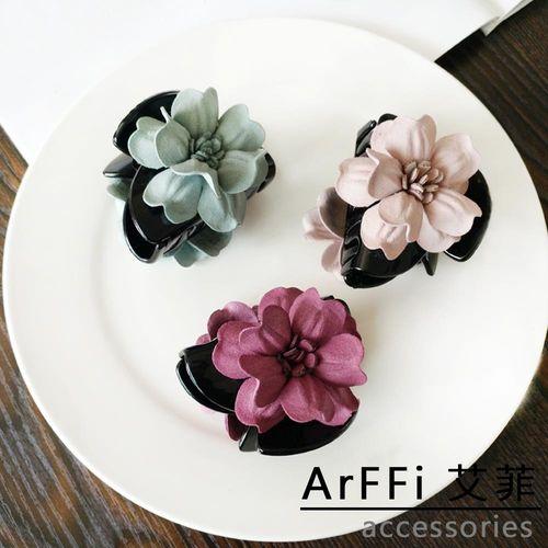 ArFFi 艾菲 韓系微春手作布藝花瓣髮夾抓夾-四色