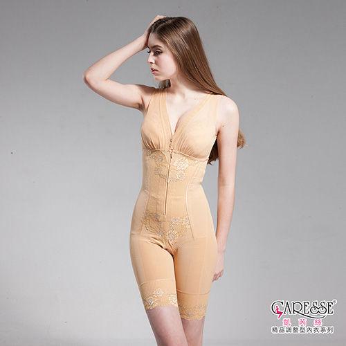 凱芮絲MIT精品 無鋼圈深V內搭款塑身衣-膚色 M9018(M-XXL)