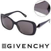 GIVENCHY 法國魅力紀梵希 幾何美學風格太陽眼鏡 黑色  GISGV829~700X