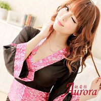 Aurora 歐若拉 #45 情趣內衣酒吧服 演出服 舞台裝馬甲短裙遊戲制服 二件套 #4