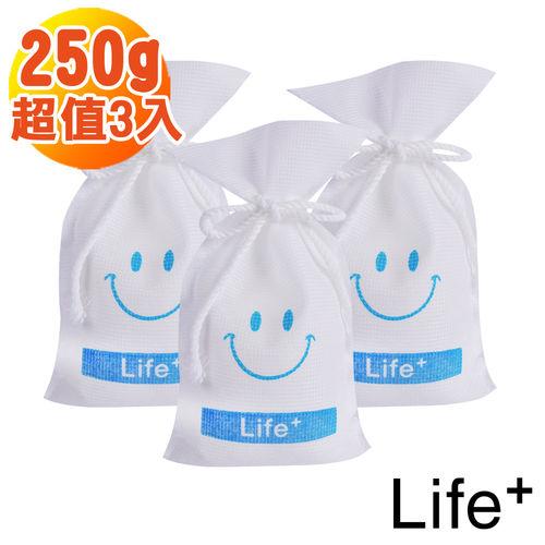 【Life+】水玻璃微笑可再生環保除濕包/袋_250g-3入組