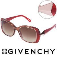 GIVENCHY 法國魅力紀梵希 幾何美學風格太陽眼鏡 紅  ~ GISGV8290AH7