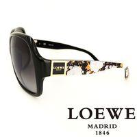 LOEWE 西班牙皇室品牌羅威皇家花紋太陽眼鏡 黑  ~ SLW728~700X