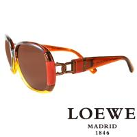 LOEWE 西班牙皇室品牌羅威兩環扣太陽眼鏡 咖啡  ~ SLW807~0D92