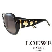 LOEWE 西班牙皇室品牌羅威兩小花高貴太陽眼鏡 黑  SLW778~0700