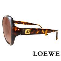 LOEWE 西班牙皇室品牌羅威素面立體LOGO太陽眼鏡 ~ 琥珀 SLW775~0744