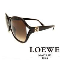 LOEWE 西班牙皇室品牌羅威 立體LOGO太陽眼鏡 ~  咖啡  SLW742~0958