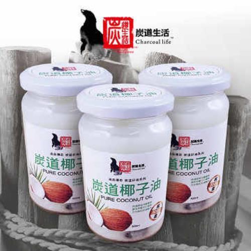 《炭道》健康冷壓椰子油6入組(300ml/入)