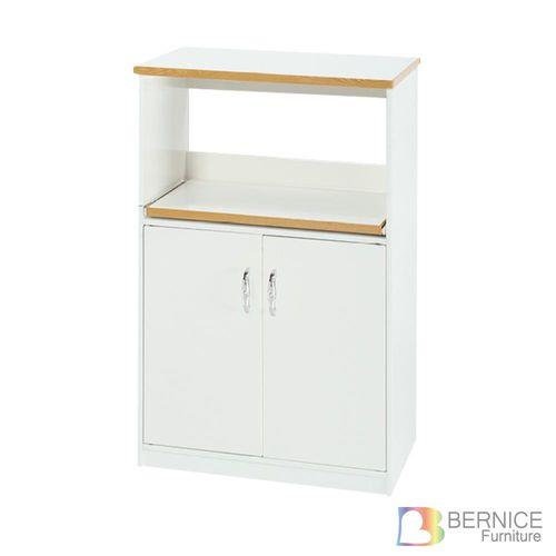 Bernice-防潮防蛀 塑鋼2.2尺雙門單格電器櫃/餐櫃