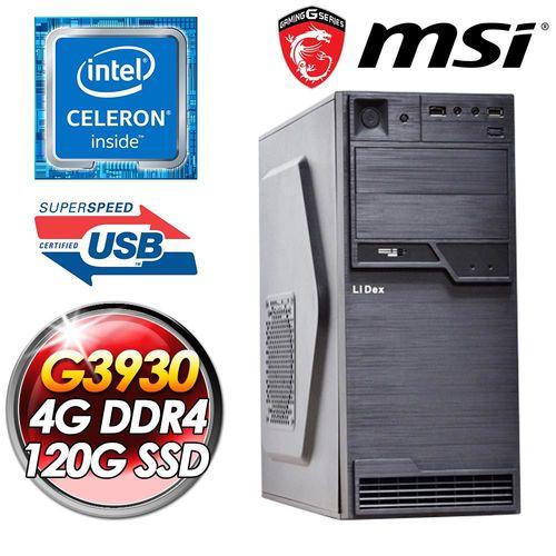 微星H110平台【博學法師】INTEL G3930 120G SSD 4G D4 450W POW  影音娛樂桌上型電腦