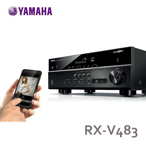 YAMAHA環擴擴大機7.2聲道內建Wi-Fi藍牙相容 USB儲存裝置RX-V483