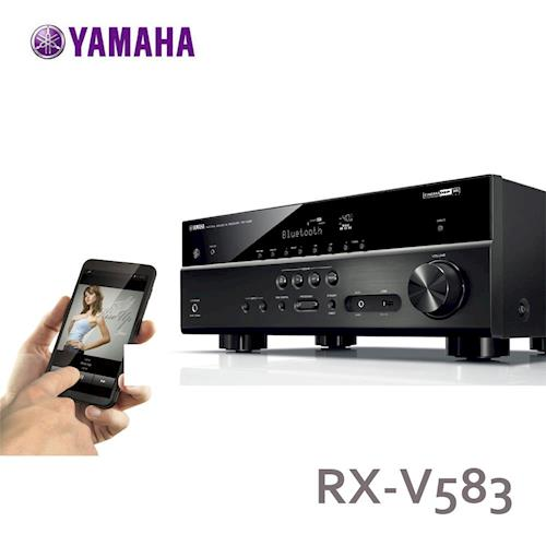 YAMAHA環擴擴大機7.2聲道內建Wi-Fi藍牙相容USB儲存裝置RX-V583