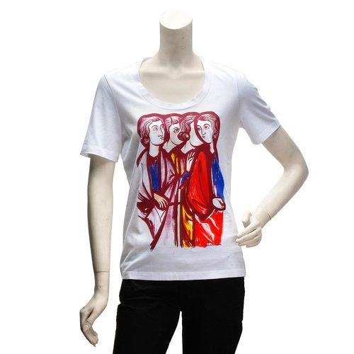 BALENCIAGA 版畫風格古羅馬人圖案短袖T恤(女-M)