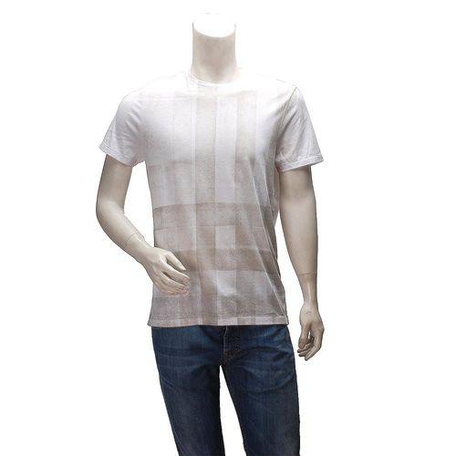 BURBERRY 經典格紋漸層棉質圓領短袖T恤(白-M)