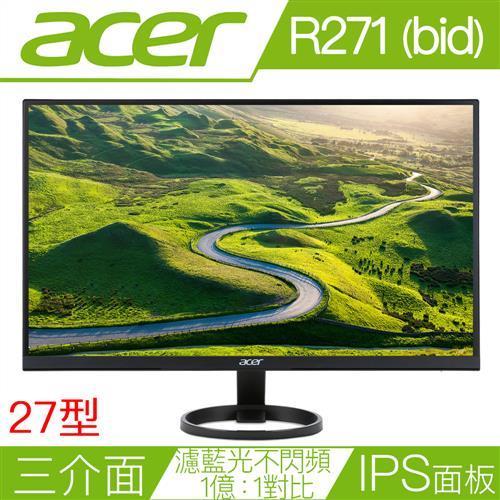 ACER宏碁螢幕 27型 IPS薄邊框電腦螢幕 R271 BID