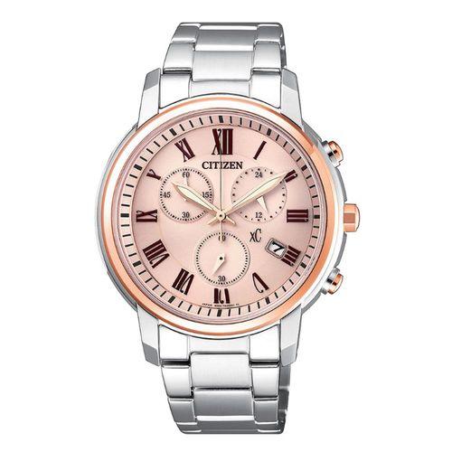 【CITIZEN星辰】亞洲限定XC系列時尚知性光動能計時女用腕錶-雙色(FB1434-50Y)