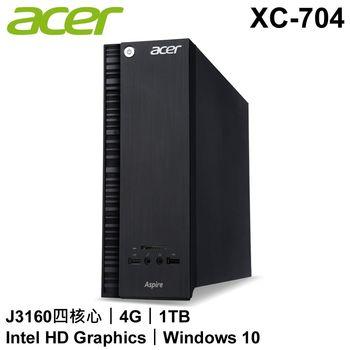 愛心-acer宏碁 XC-704桌上型電腦+KA220HQ 22型螢幕