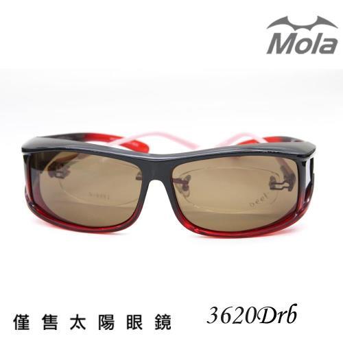 【MOLA 摩拉】近視可戴外掛式偏光太陽眼鏡 套鏡 -3620Drb