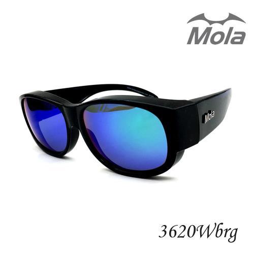 MOLA摩拉前掛式偏光太陽眼鏡 套鏡 彩色多層膜 男女一般臉型 近視可戴
