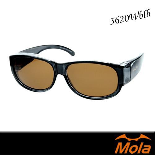 MOLA 摩拉外掛式偏光太陽眼鏡套鏡 近視/老花可戴-3620Wblb