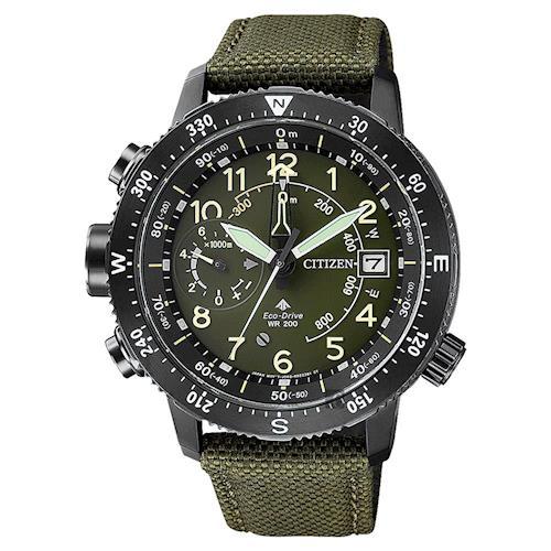 CITIZEN 星辰 PROMASTER 光動能專業登山錶 綠 46mm BN4045-12X
