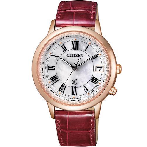 CITIZEN 星辰 xC系列電波對時時尚腕錶 CB1107-07D