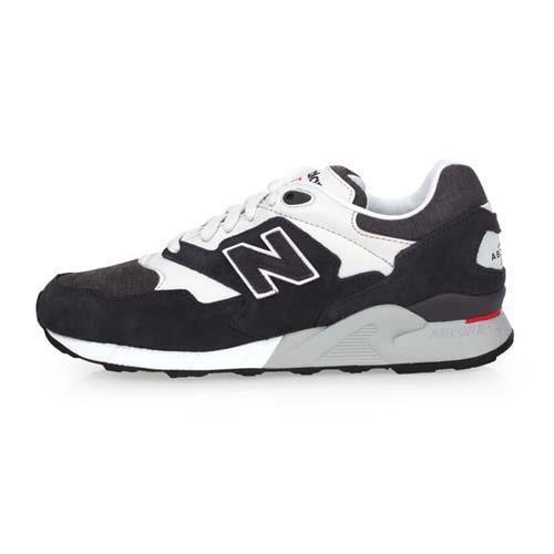 NEWBALANCE 878系列 男復古休閒鞋-D-寬楦 NB N字鞋 黑白