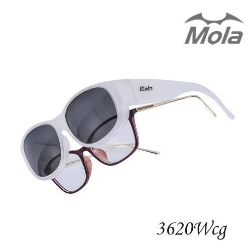 MOLA摩拉時尚外掛式偏光太陽眼鏡近視眼鏡可戴 UV400-3620Wcg