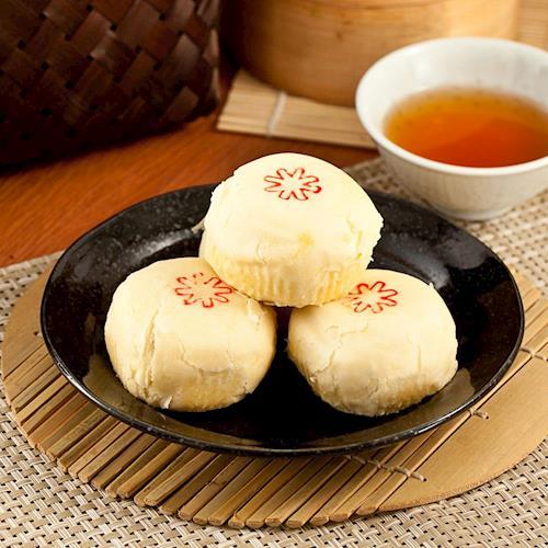 現購 中秋月餅-樂活e棧-綠豆沙乳酪禮盒(5顆/盒,共1盒)-蛋奶素