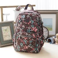 COUNT DUCK 美系悠活輕量大容量後背包~CD~016~漾彩花卉