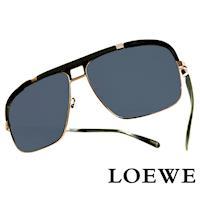 LOEWE 西班牙皇室品牌羅威軍用 太陽眼鏡 黑色  SLW404~0K59