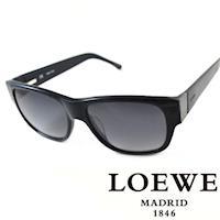 LOEWE 西班牙皇室品牌羅威素面貴氣太陽眼鏡 藍  SLW693~09GU